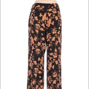 Anthropologie printed floral pants